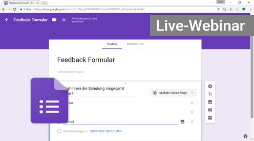Google Forms Formulare Webinar