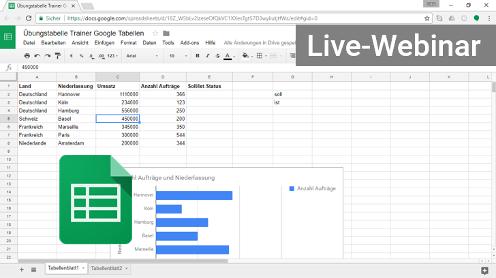Google Sheets Tabellen Webinar