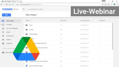 Google Drive Webinar Online-Seminar