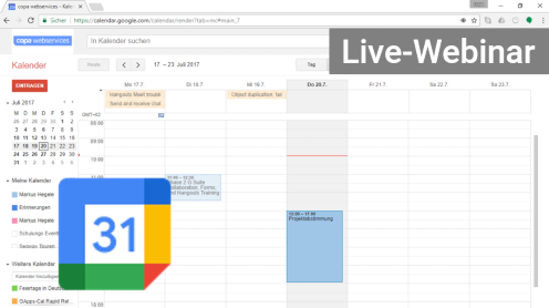 Google Kalender Webinar Online-Seminar