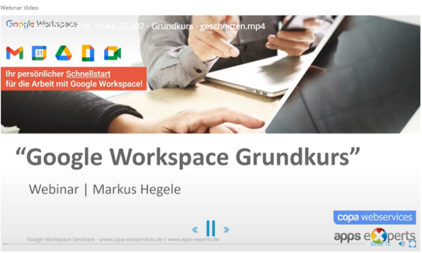 Google Workspace Video-Kurse
